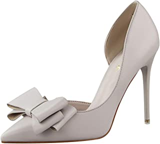 RAZAMAZA Women Sweet Bow Pumps Stiletto