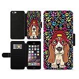 OKO Basset Hound Dog Paws Print faux leather phone case