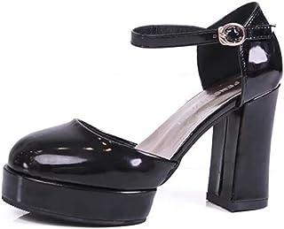 [VALER] パンプス ストラップ ポインテッドトゥ 8cmヒール 痛くない 大きいサイズ 結婚式 脱げない 大人 小さいサイズ PU 靴 アンクルストラップ ポインテッド 歩きやすい レディース 黒 白 フォーマル 春夏 太ヒール