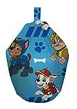 Paw Patrol Pawsome Chase/Marshall and Rubble Machine Washable Bean Bag, Fabric, Blue, 52 x 38 x 52 cm