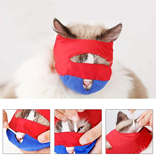 Legendog Katzenmaulkorb Anti Biting Haustier Maulkorb Katze Supplies Katze Grooming Haustier Liefern