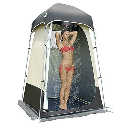 LY Outdoor wasserdichte Schatten Camping Duschzelt, 200d Oxford Tuch Silber...