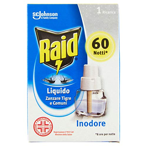 Raid Líquido Recarga Inodoro 60 Notti – 1 Recarga – 36 ml