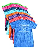 JANT girl Tennis Tie Dye T-Shirt - for Girls with Game Logo (Turquoise, M)