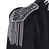 EMDOMO - Broche largo con cuentas para traje o chaqueta (1 par / 2 unidades)
