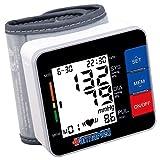 FARMAMED Tensiomètre au Poignet Numérique Portable pour mesurer la pression artérielle, 180 mémoires au total, 2 utilisateurs, grand écran LCD