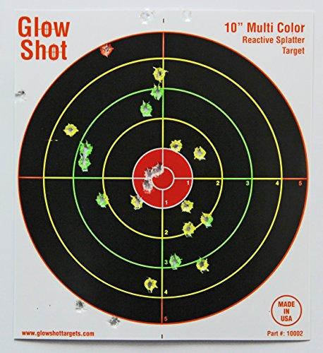 50 Pack - 10' Reactive Splatter Targets - Glowshot - Multi Color - Gun and Rifle Targets - Glow Shot
