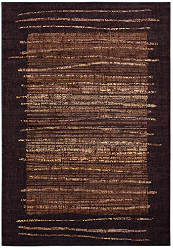 Rizzy Home Stripe Beige Bellevue Collection Accent Rug (6' 7 x 9' 6) Brown