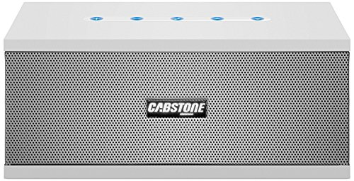 Cabstone SoundBlock (eleganter Bluetooth-Lautsprecher mit 360° Klangfeld), weiß