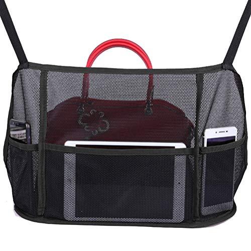 TiKiNi Wagen Netz Taschenorganisator, Wagen Netztasche Handtaschenhalter Einfache Installation Multifunktionale Auto hängendes Netz Tasche für Handtaschen Taschen Dokumente Telefon