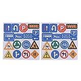 Homyl Pegatina Adhesiva Decorativa Juguetes para Niños (Patrón Autopista / Carretera / Vía / Señal de Tráfico / Árbol Casa) - #5 Señal de tráfico