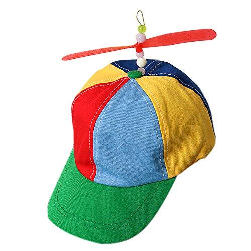 JIUZHOU Best Online Spielzeug-Shop Propeller Cap Hut Helikopter Regenbogen Tweedle Pride Party Kuso Kostüm Nerd