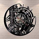 WTTA Música Disco de Vinilo Reloj saxofón Orquesta Sinfonía LED Reloj de Pared Banda Disco de Vinilo Mejor Regalo