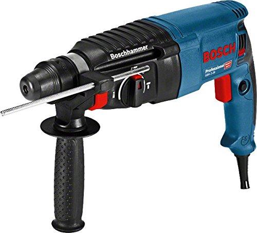 Bosch Professional Bohrhammer GBH 2-26 (Tiefenanschlag, Zusatzhandgriff, 830 Watt-Motor, SDS-Plus Werkzeugaufnahme, Handwerkerkoffer)