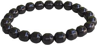 Power Ionics Health Ion Tourmaline Beads Stretch Bracelet Wristband Balance w/Box Yoga Wristband w/Box (Black)