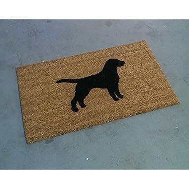 Labrador Retriever Silhouette Doormat (18 x30 )
