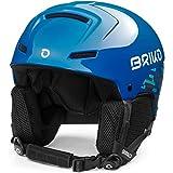 Briko Mammoth Casco de esquí/Snow, Juventud Unisex, Shiny Planet Blue-Camo, 56-58 cm