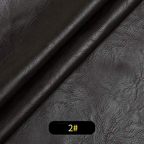 RSH Kunstleder Möbelstoff Polsterstoff PU Premium Qualität Dicke 1mm Stück Lederreparatur Kunstleder Flicken Für Leder Sofa Möbel Autositze Und Taschen Breite 138cm(Feste Breite) 1 Stück=50cm (Länge)