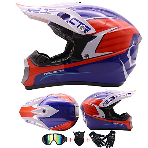 AKBOY Casco de Motocross Hombre con Visera Kit Casco Integral Kit Bicicleta...