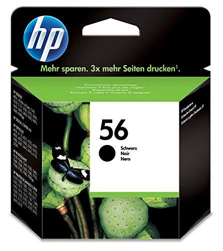 HP 56 C6656AE, Cartucho de Tinta Original, Negro, compatible con impresoras de inyección de tinta HP Deskjet 5550, Photosmart 7350, 7150, 7345, Officejet 6110, 5110