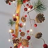 LED Lichterkette WeihnachtenBeleuchtung Weihnachtsdeko Warmweiß - 5
