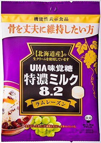 味覚糖 食品 特濃ミルク8.2 ラムレーズン 93g×6袋 [機能性表示食品]