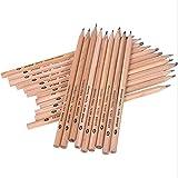 Yajun Lápiz De Madera HB Negro Hexagonal No Tóxico Ecológico Pencils Estándar Natural Papelería Material Escolar De Oficina 48pcs,7B