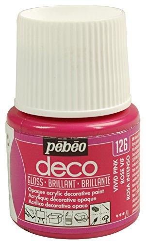 Pébéo Deco Peinture 45 ml Brillant Rose Vif 092126