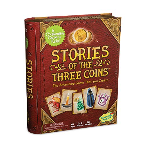 Peaceable Kingdom Stories of The Three Coins – Cooperative Storytelling Game – Use Teamwork to Win! – Great for Families with Kids Ages 5 & up – Fun Classroom Game