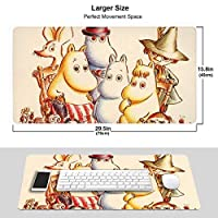 ムーミン マウスパッド 光学マウス対応 パソコン 周辺機器 超大型 防水 洗える 滑り止め 高級感 耐久性が良い 40*75cm