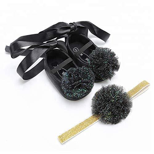 Baby Baby Schuhe, Baby Girl Indoor Outdoor Haarring Infant Grey Schuhe für Neugeborene, Kleinkinder, Babys und Kleinkinder black-12cm