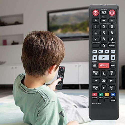 FOLOSAFENAR Reemplazo Alimentado por batería AK59-00166A Control Remoto Resistente al Desgaste Reemplazo de Control Remoto de TV Botón Grande para Blue Ray DVD TV