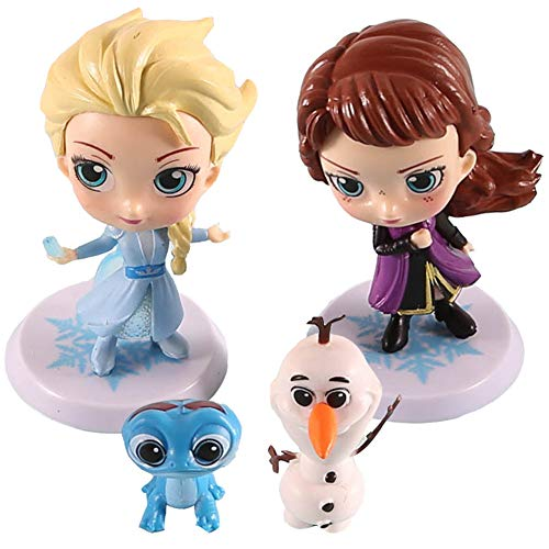 Principessa Congelata Cake Topper, NALCY 4 Pcs Frozen Cake Toppers, Mini Frozen Figurine, Principessa Congelata Bambole, Cake Toppers per Bambini Baby Party Birthday Party Cake Decor Supplie