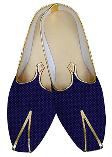 INMONARCH Hombres Azul Marino Novio Zapatos Ocasionales MJ015063S10H 44 Azul Marino