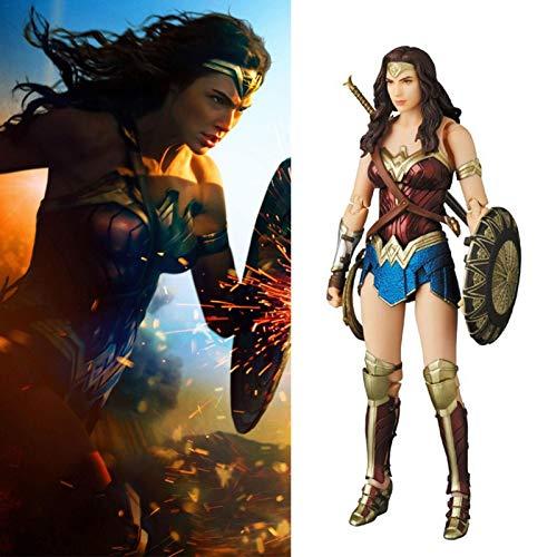 Mirabellinifred Superhroe Toy Justice League Wonder Woman Mueca articulada Supergirl juego infantil con personaje de accin