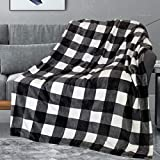 66 X 90 Inch Buffalo Plaid Throw Blanket, Red Black Checkered Flannel Fleece Blanket for Couch Bed, Soft Plush Fuzzy Fluffy Warm Throw