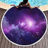 Galaxy Strandtuch, Mikrofaser, Strandtuch – Universum, sanddicht, Outdoor-Matte, 150 cm, für...