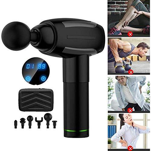 ahanzhu Massaggio Pistola massaggio Pistola eléctrica massaggiatore portatile Corpo Terapia massaggio muscolare...