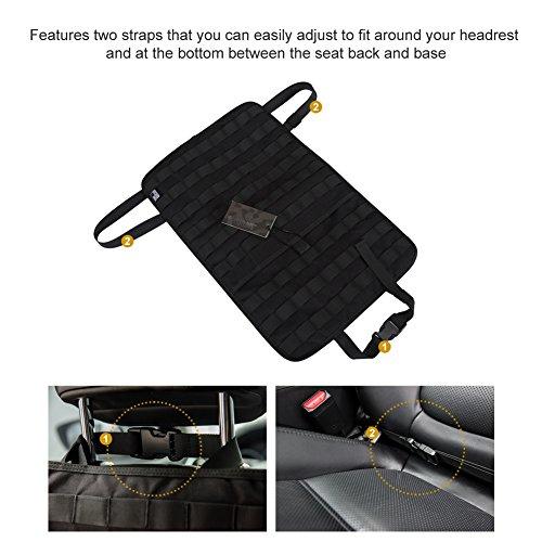 OneTigrisシートバックガードキックガード自動車座席背面シートカバーモールシステム対応高品質ナイロン製シートの傷・汚れ防止取付簡単…