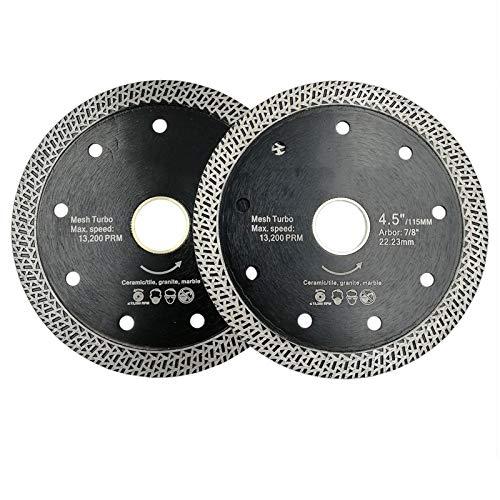 XIANGSHAN Dia 4.5' prensado en Caliente sinterizado Hoja de Sierra de Diamante de Malla Turbo Rueda Dura de Material seco o húmedo 115mm Disco de Corte (Size : 115mm)