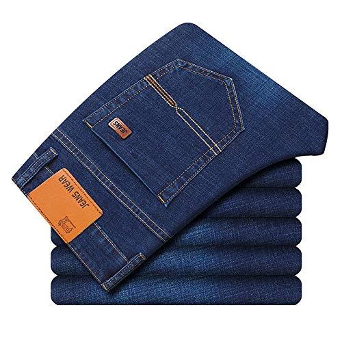 Vaqueros Vaqueros Slim Fit Rectos Casual Negro Pantalones Vaqueros De Algodón Elástico 36 Azul