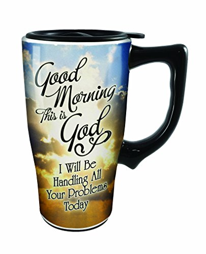 Spoontiques Good Morning This is God Travel Mug, Multicolor
