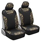 1993 toyota corolla seat covers - Waterproof Camo Seat Covers for Truck Car SUV - Two Tone Black & Camouflage Sideless Front Auto Seat Protectors