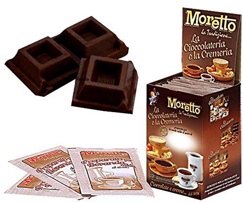 Cioccolata calda in tazza - MORETTO - gusto CIOCCOLATO EXTRA FONDENTE - 1 scatola con 12 bustine