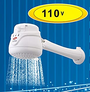 LORENZETTI CORAL 110V Electric Instant Hot Water Shower Head Heater + FREE wall support/tube Included (ducha electrica para agua caliente incluye nipple)