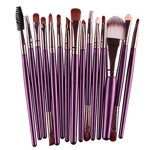 GUANGUA 15 Ensemble de pinceaux de Maquillage Fard à paupières Foundation Eyeliner Eyelash Eyelash Lip Makeup Makeup Brush Beauty Tool Set