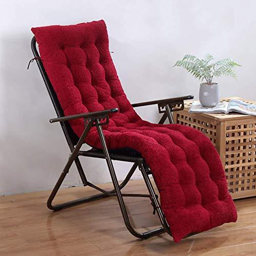 Cojín engrosado para silla con respaldo alto, cojín para silla de patio, cojín para patio, terciopelo de cordero, para interior y exterior, cojín para chaise longue, antideslizante, mecedora, sillón,