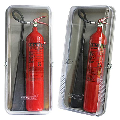 Klarsichtschutzbox für 5 kg CO2 Feuerlöscher Schutzkasten Feuerlöscherkasten Box von MBS-FIRE®