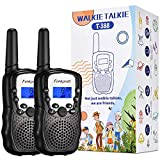 Funkprofi Walkie Talkies for Kids, 3 KMs Long Range 22 Channels Two Way Radios for Boys and Girls, Walky Talky for Age 3-12 Years Old Kids, Outside Play Toys for Hiking Camping (Black)