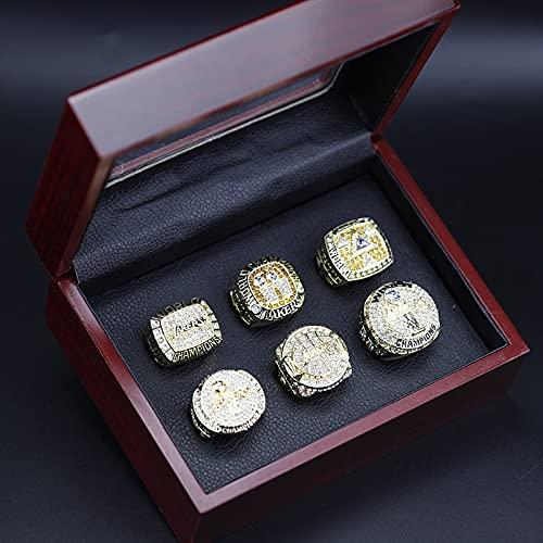 cjbaok Los Angeles Lakers NBA Championship Ring Set - Europa y América Anillos Masculinos Anillos Brillantes de Diamantes + Caja
